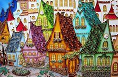 Витражи художественные на красивый русского художника Юлии Слепченко