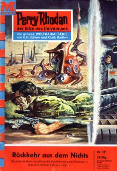"""Perry Rhodan - No. 59: Return From The Void - by Kurt Mahr: Cover artwork by """"Johnny"""" Bruck: Was US issue #51"""