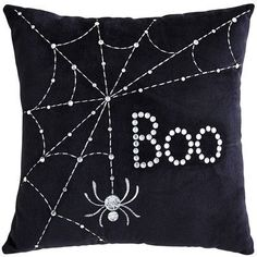 Halloween Black Mini Boo Pillow from Pier 1 imports. Shop more products from Pier 1 imports on Wanelo. Chic Halloween, Halloween Home Decor, Halloween Projects, Halloween House, Holidays Halloween, Halloween Decorations, Happy Halloween, Adornos Halloween, Manualidades Halloween