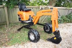 Powerfab mini excavator PLANS  for towable digger backhoe 360 degree slew