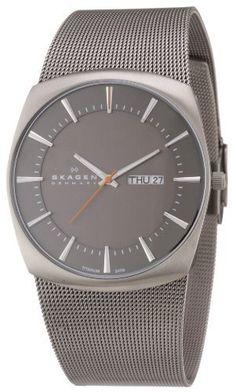 Skagen Men's 696XLTTM Titanium Grey Dial Watch Skagen. $72.69. Quartz movement. Water-resistant to 30 M (99 feet). Durable mineral crystal protects watch from scratches,. Titanium watch. Case diameter: 39 mm