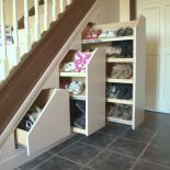 18 Useful Designs for Your Free Under Stair Storage Take advantage of unused space under the basement stairs with these inexpensive (and DIY! storage under stairs 10 Under Stair Storage Ideas that Make Your House Look Stunning Staircase Storage, Diy Storage Shelves, Attic Storage, Bedroom Storage, Storage Ideas, Under Stair Storage, Storage Units, Storage Solutions, Extra Storage