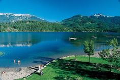 Alta Lake in Whistler, British Columbia, Canada. This was a lovely lake to swim in during the summer and a great place to visit with kids.