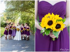 Purple Bridesmaid Dresses / Kasey Lynn Photography