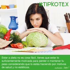 Estar a dieta no es cosa fácil, tienes que estar lo suficientemente motivada para perder o mantener tu peso ideal.   #Health #Salud #Peso #Quotes #Tips #Frases #Love #TipKotex