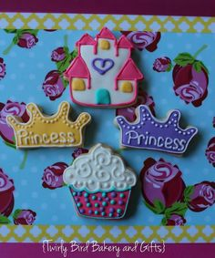 Princess-Themed Decorated Sugar Cookies