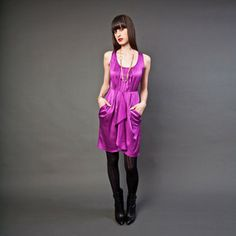 Charlotte Dress Mulberry now featured on Fab.