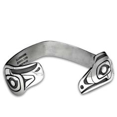 Sterling Silver Lovebirds Small Northwest Coast Native American Bracelet. Made in USA. Metal Arts Group. $226.00
