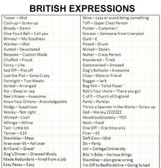 separated by a common language: Are these British expressions British?