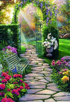 Beautiful Garden Background For Photoshop