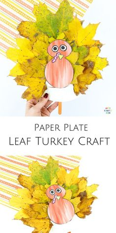 Make a Paper Plate Leaf Turkey Craft with the kids this Thanksgiving. A fun and interactive Thanksgiving craft that kids will love! This easy craft can be completed with our printable turkey template. Easy Preschool Crafts, Easy Fall Crafts, Easy Arts And Crafts, Thanksgiving Crafts For Kids, Craft Activities For Kids, Christmas Crafts, Kids Crafts, Preschool Activities, Christmas Holidays