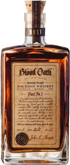 """Do ya know what a blood oath is, Mr.good cuz ya just took one"" (in my best Sean Connery accent) Blood Oath Kentucky Straight Bourbon Whiskey Good Whiskey, Cigars And Whiskey, Whiskey Drinks, Scotch Whiskey, Bourbon Whiskey, Whiskey Bottle, Tequila, Vodka, Alcoholic Drinks"