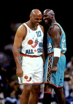 Chuck & Mike, '96 All Star Game. In SA