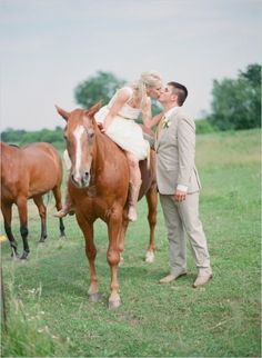 cowgirl wedding bride and groom steal a kiss #cowgirlwedding #brideandgroom #weddingchicks http://www.weddingchicks.com/2014/02/04/cowgirl-wedding/