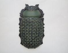 "Wand Skulptur moderne Keramik Skulptur Wand Keramik Plastik Käfer Projekt ""Entomologische Kollektion""Gewicht 3kg - Artikel bearbeiten - Etsy"