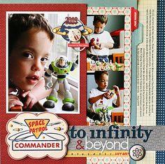 Buzz Lightyear  scrapbook layout Toy story