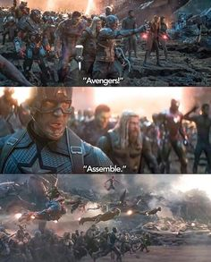 Avengers Assemble Scene From Avengers EndGame - Marvel Avengers Humor, Marvel Avengers, Marvel Jokes, Captain Marvel, Marvel Comics, Marvel Funny, Marvel Heroes, Captain America, The Avengers Assemble