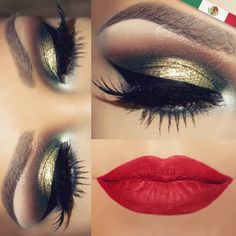 """""""NEW video tutorial with a Mexican look is UP already on my youtube channel. Check the link on my bio page if you are INTERESTED.  Eye shadows COMBAT &…"""""""