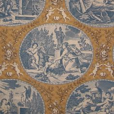 Lee Jofa 1700s Allegorie a L'Amour Neoclassical Toile Wallpaper in Three Colorways
