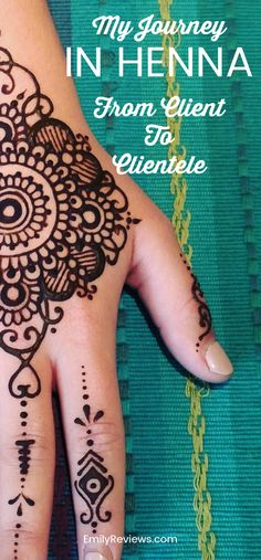 My journey in henna from client to clientele.