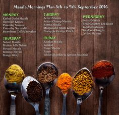 WeeklyPlan 5th to 9th Sep 2016 on all types of Masala Powders with recipes by Shireen Anwar -- First Time Ever The Real Masala Show !!