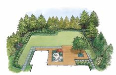 Love the gravel and planting inserts: Eplans Landscape Plan - Japanese-Style Garden Landscape from Eplans - House Plan Code HWEPL11443