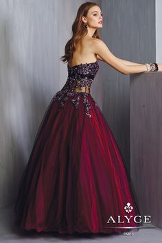 Alyce Prom Dress Style #6327 Back View   | Fall 2014