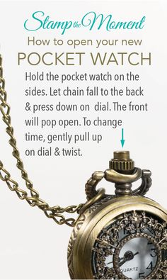 "This is our most common asked question: ""How do I open my new pocket watch?"" Well - here ya go. (You're welcome!)"