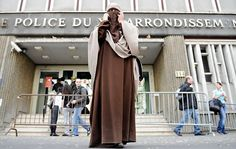Kenza Drider, a French Muslim of North African descent, after her release from a police station in Paris on April 11, 2011, the day the ban on full face veils went into force.