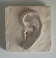 Original in plasticine clay then casted with a waterbased resin 115 x 80 mm Plasticine Clay, Small Sculptures, Resin, It Cast, Study, Ear, The Originals, Studio, Studying