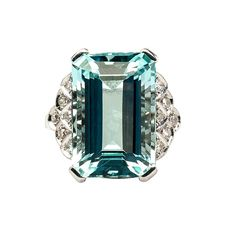 Art Deco aquamarine and diamond ring Ringe, Schmuck, Art Deco Schmuck,  Ringe ( fae43b32efed