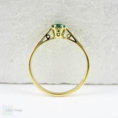 Smaragd Verlobungsring Solitär Rich Royal Green Runde von Addy