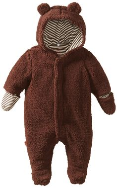 Amazon.com: Magnificent Baby Unisex-Baby Infant Hooded Bear Pram, Mocha, New Born: Infant And Toddler Fleece Outerwear Jackets: Clothing