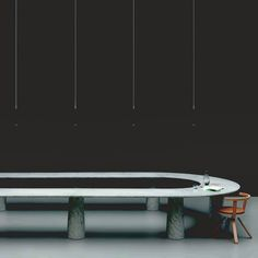 Wallpaper Design Awards 2015  Best Boardroom Winner  Arena  modular table system in marble by Jasper Morrison for Marsotto Edizioni  and  KG001 Rival  chair by Konstantin Grcic for Artek