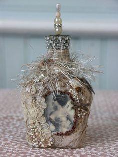 Shabby Cottage Studio ~Gail Schmidt ~ Artist: I'm Back! With Bottles!
