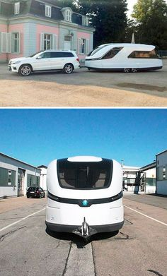 Curvy Cruiser: Streamlined Caravan Looks Sleek & Inviting  Inspired by the shape and style of luxury yachts, this curvaceous creation adds a degree of elegance (not to mention fuel efficiency) back into the realm of contemporary mobile homes. via dornob.com