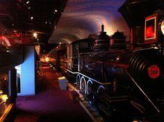 1880 Atchison, Topeka, & Santa Fe Railroad locomotive at the Kansas Museum of History in Topeka