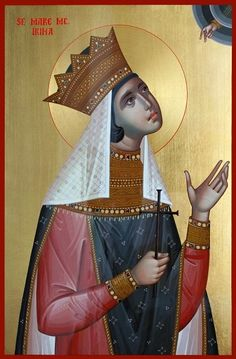 Irene by Ursutz Gabriel - May 5 St G, Byzantine Icons, Orthodox Icons, Christianity, Mosaic, Saints, Spirituality, Princess Zelda, Fictional Characters