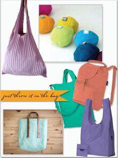 Baggu, eco-friendly bags, UGUiSU, purple,