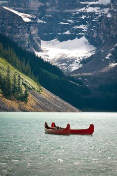 Lake Louise canoe's. Another from our trip!