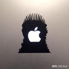 "This computer decal to let everyone in Starbucks know the Iron Throne belongs to you. | 25 ""Game Of Thrones"" Products Every Fan Needs To Own"