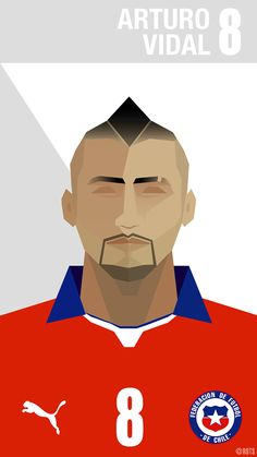 Arturo vidal by Rodrigo Vera, via Behance Soccer Art, Football Art, Football Players, Messi And Ronaldo, Everton Fc, Football Pictures, Sports Art, Fc Barcelona, Pop Art