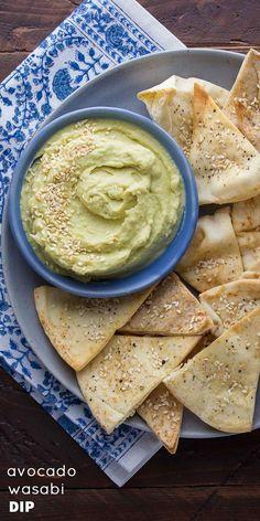 Avocado Wasabi Dip with Sesame Pita Chips-4 copy
