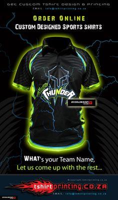 T-shirt Printing Solutions - T-shirt Printing Solutions Team Shirts, Sports Shirts, Sublime Shirt, Team Names, Make Design, Cool Logo, Thunder, Cricket, Cool Shirts
