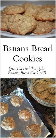 Banana Bread Cookies #recipe #baking