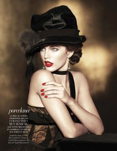 Emily DiDonato is Glam in Black for Vogue Latin Americas A/W 2012 Beauty Supplement