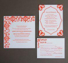Letterpress Wedding Invitations by Pistachio Press