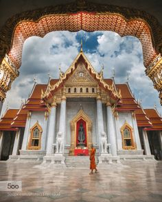The Marble Temple by peterstewartphotography  Bangkok Benchamabophit HDR Marble Temple Thailand Wat architecture asia beautiful buddhism buddhist