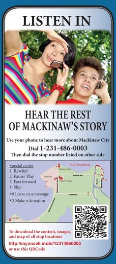 """Hear """"the rest of the story"""" as you stroll Mackinaw City this season."""