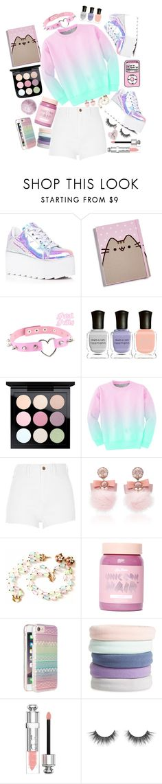"""""""I miss...cotton candy..."""" by black-metal ❤ liked on Polyvore featuring Y.R.U., Gund, Cuero, Deborah Lippmann, Aloha From Deer, River Island, Ranjana Khan, Trifari, Lime Crime and CYLO"""
